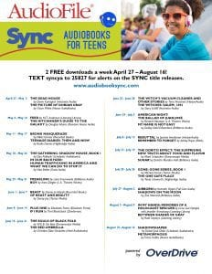 YA Sync poster 2017 dates